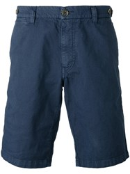 Eleventy Shorts With Button Closing Flap Pockets Blue