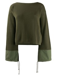 Mr And Mrs Italy Wide Sleeved Sweater Green