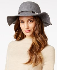 Inc International Concepts Chain And Faux Suede Band Floppy Hat Only At Macy's Grey