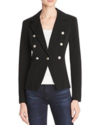 Aqua Crested Button Blazer Black