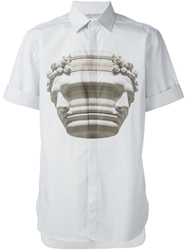 Neil Barrett Abstract Bust Print Shirt
