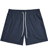 Reiss Sonar Drawstring Swim Shorts In Navy