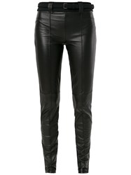 Gloria Coelho Belted Leggings Black