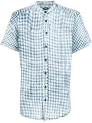 Publish Shortsleeved Gingham Check Shirt Blue