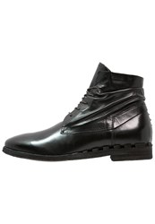 A.S.98 Absinth Laceup Boots Nero Black