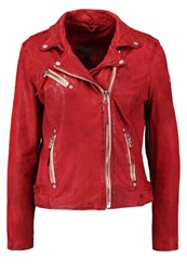 Gipsy Leather Jacket Deep Red Dark Red