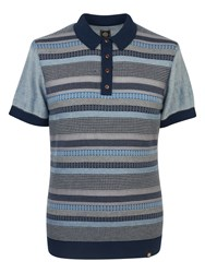 Pretty Green Men's Fortrose Knitted Polo Navy