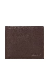 Barbour Billfold Leather Wallet Brown