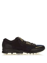 Lanvin Running Contrast Panelled Low Top Trainers Navy Multi