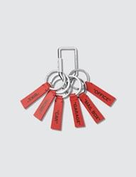 Off White Red Label Keychain