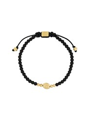 Northskull Logo Disc Bracelet Black