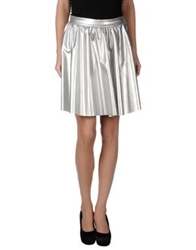 Minimal Knee Length Skirts Silver