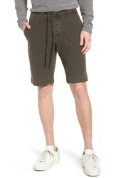 James Perse Compact Stretch Cotton Shorts Hunter Pigment