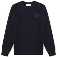 Wood Wood Kevin Crew Knit Blue