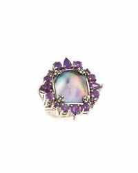 Stephen Dweck Amethyst And Mabe Pearl Cocktail Ring