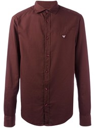 Armani Jeans Logo Patch Shirt Red