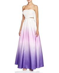Decode 1.8 Ombre Cutout Gown Purple