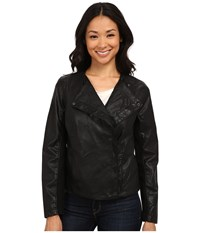 Calvin Klein Jeans Pu Perf Jacket Black Women's Coat