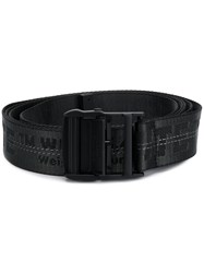 Off White Logo Jacquard Belt Black