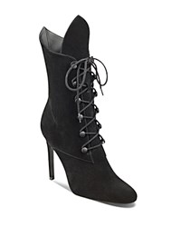 Kendall And Kylie Maya Lace Up High Heel Booties Black