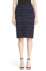 St. John Women's Collection 'Evening Cruise Stripe' Pencil Skirt