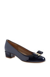 Salvatore Ferragamo 'Vara' Pump Oxford Blue Patent