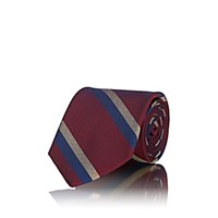 Fairfax Striped Textured Silk Necktie Red