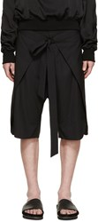 D.Gnak By Kang.D Black Wrap Open Shorts