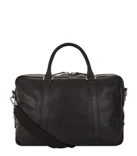 Shinola Slim Leather Briefcase Unisex Black