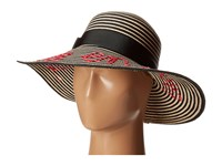 Kate Spade La Vie En Rose Stripe Sun Hat Black