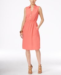 Alfani A Line Shirtdress Only At Macy's Coral Blast
