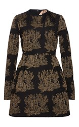 N 21 No. Metallic Embroidered Dress Black