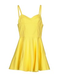 Jeremy Scott Short Dresses Yellow