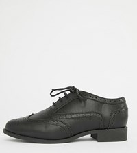 London Rebel Wide Fit Lace Up Brouges Black