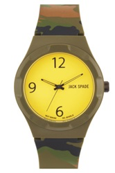 Jack Spade 'Graphic Camo' Watch 40Mm Yellow