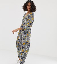 Native Youth Relaxed Jumpsuit In Abstract Print Multi