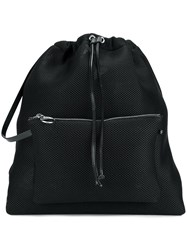 Maison Martin Margiela Mm6 Perforated Mesh Backpack Black