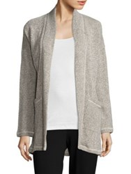 Eileen Fisher Organic Cotton Terry Kimono Jacket Ash