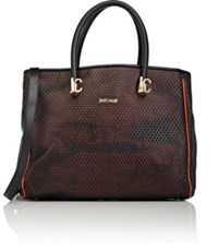Just Cavalli Women's Perforated Tote Black
