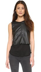 Generation Love Faux Leather Layer Tank Black