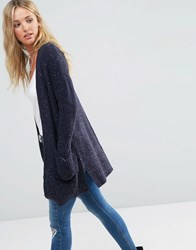 Asos Ultimate Chunky Cardigan Navy