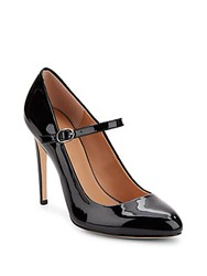Halston Patent Leather Mary Jane Pumps Black
