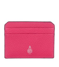 Mark Cross Grained Leather Card Holder Pink