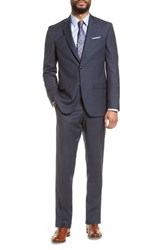 Ted Baker London Jay Trim Fit Check Wool Suit Blue
