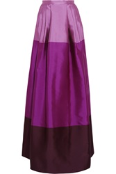 Temperley London Long Freesia Satin Twill Maxi Skirt