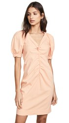Rebecca Taylor La Vie Short Sleeve Dress Peach