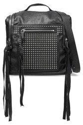 Mcq By Alexander Mcqueen Woman Convertible Studded Leather Backpack Black