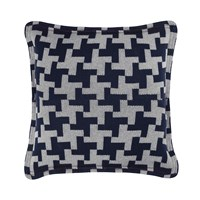 Tommy Hilfiger Navy Knitted Cotton Cushion Navy