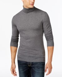 Alfani Men's Solid Turtleneck Sweater Only At Macy's Night Grey