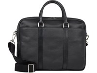 Barneys New York Two Compartment Briefcase Black